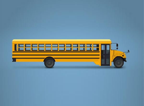 Cómo crear una ilustración de autobús escolar en Adobe Illustrator