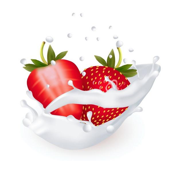 Cómo utilizar gradiente de malla para crear fresas en un splash de leche en Adobe Illustrator