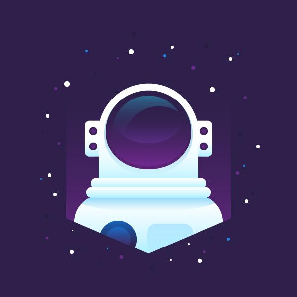 Cómo crear un astronauta plano en Adobe Illustrator