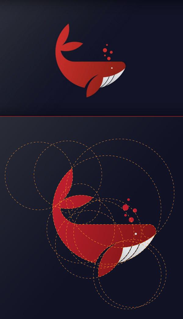 Cómo crear el diseño del logotipo de la ballena en Adobe Illustrator