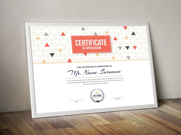 Ares Professional Landscape Certificate Template