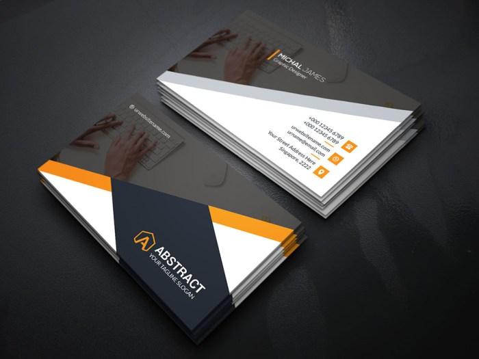 Dark Business Card Template