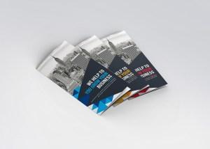 Jasmine Corporate Tri-Fold Brochure Template