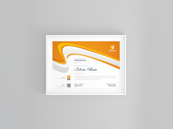 Best Seller Professional Certificate Template
