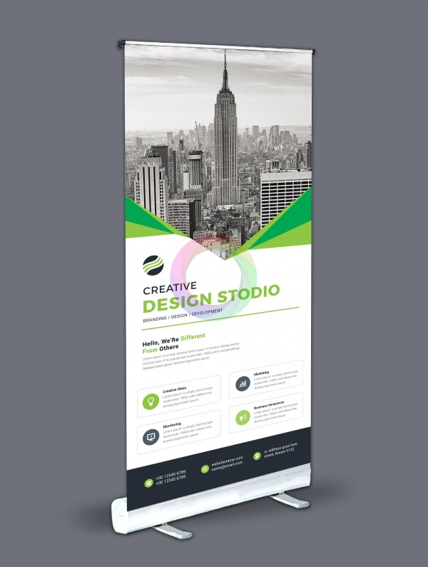 Roll-Up Banner Design Template Bundle