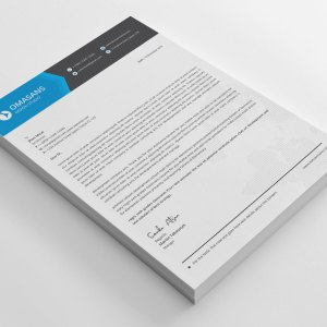 Elegant Corporate Letterhead Design