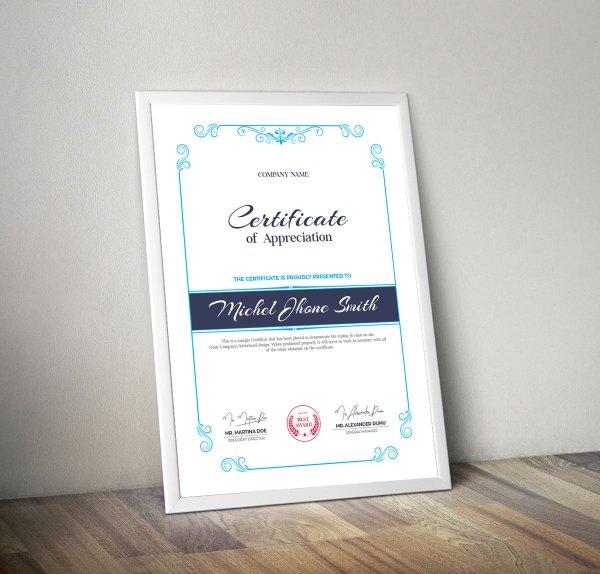 Stylish Certificate Design Templates