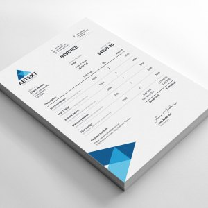 Modern Vector Invoice Template