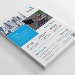 Marketing A4 PSD Flyer Templates