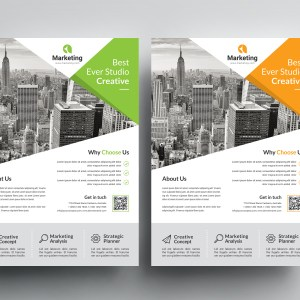 Professional A4 PSD Flyer Templates