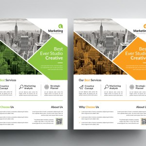 Professional Business PSD Flyer Templates