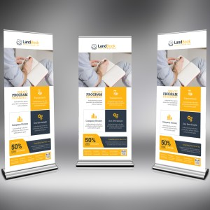 PSD Elegant Roll-Up Banner Template