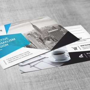 PSD Stylish Business Postcards