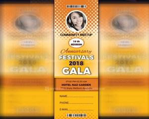 Festivals Event Ticket Template