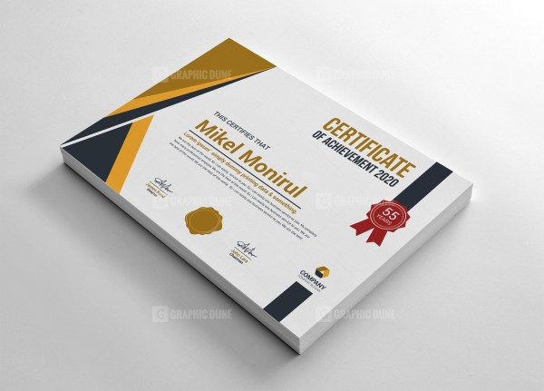 Creative Achievement Certificate
