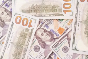 Background with Dollar Banknotes