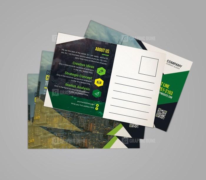 Classic Corporate Postcard Design