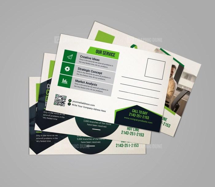 Consultant Postcard Template