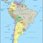 South America Political Map Graphic Education