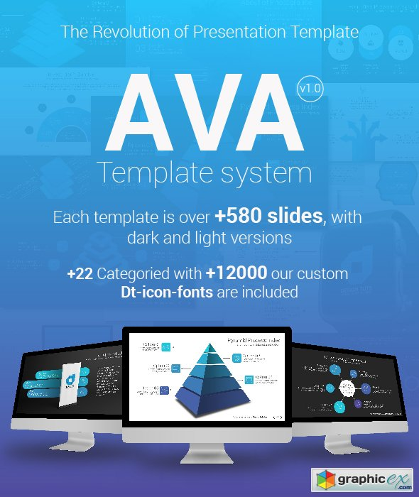 Ava Powerpoint Template System 187 Free Download Vector