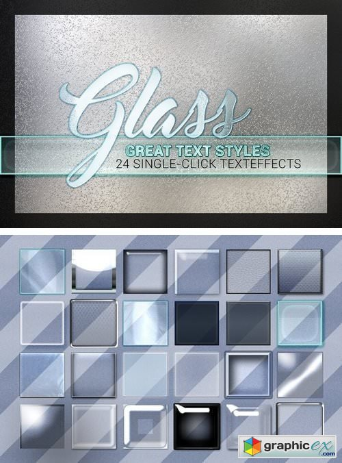 24 Styles  Glass Collection  Free Download Vector Stock Image Photoshop Icon