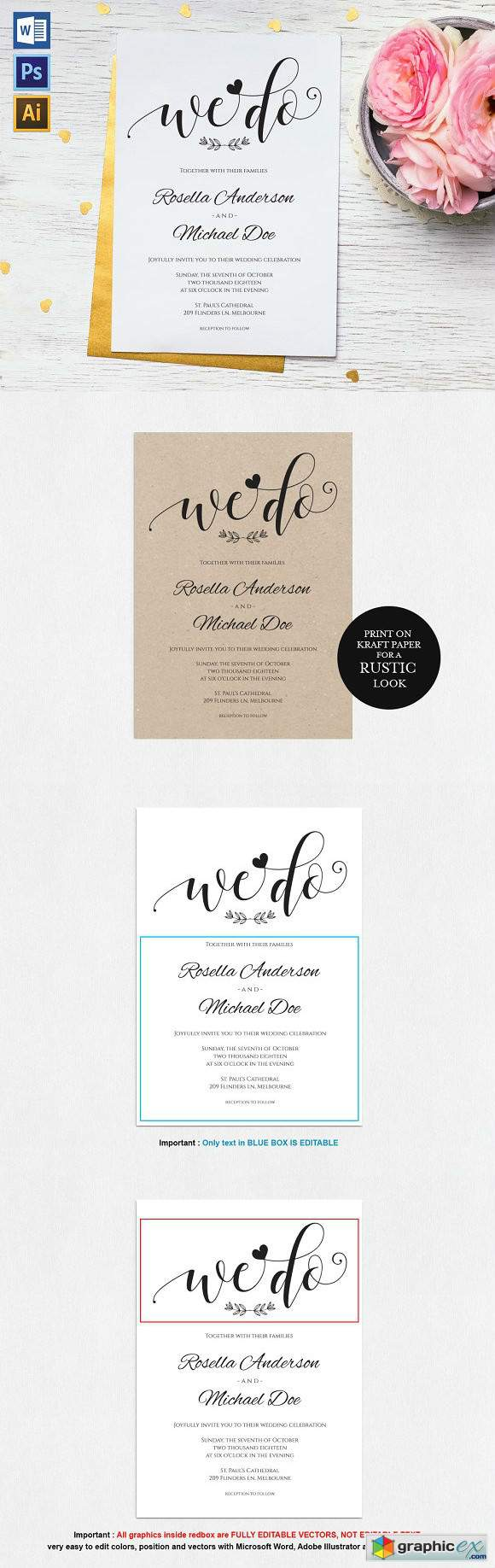 Adobe Stock Wedding Invitations