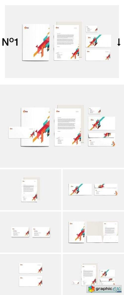 Lex Corporate Identity » Free Download Vector Stock Image