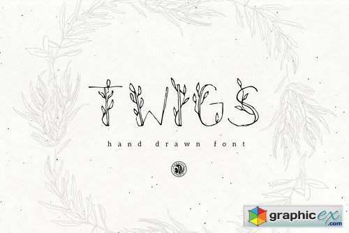 Twigs Font » Free Download Vector Stock Image Photoshop Icon