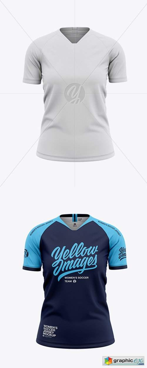 Download Women's Soccer Jersey Mockup - Front View » Free Download ...