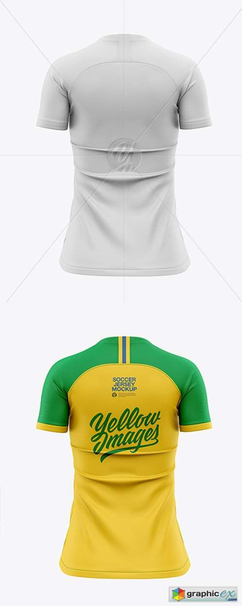 Download Women's Soccer Jersey Mockup - Back View » Free Download ...
