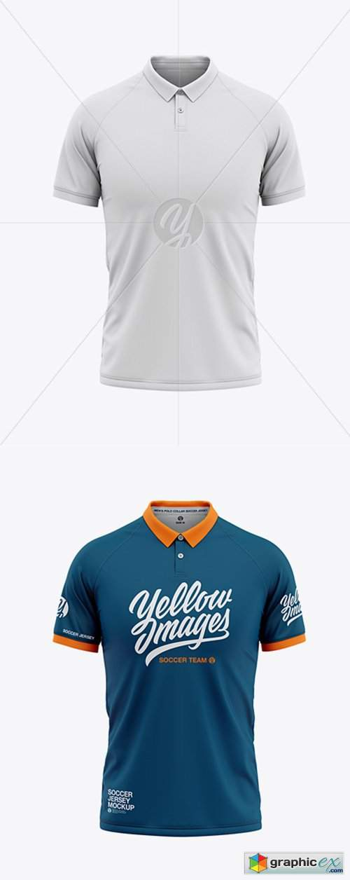 Download Men's Soccer Jersey Mockup - Front View » Free Download ...