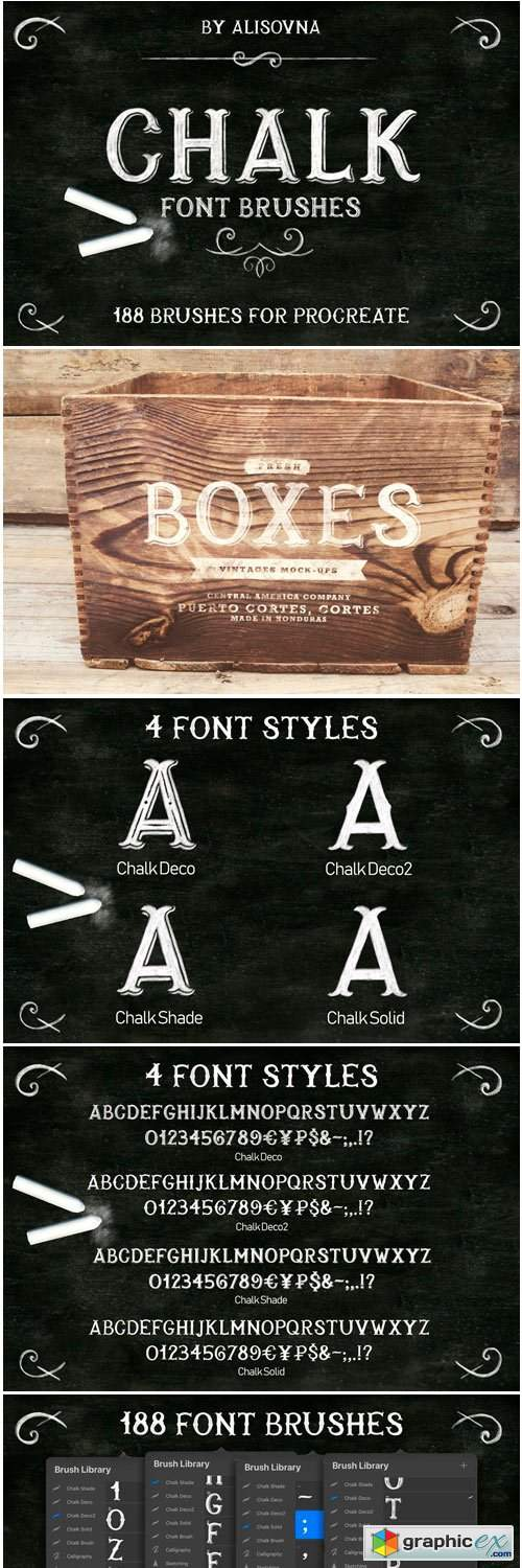 Download Procreate Chalk Font Brushes » Free Download Vector Stock ...