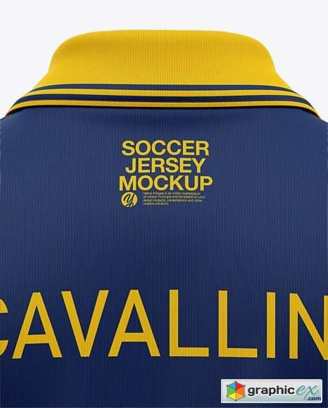 Download Men's Soccer /Cricket Jersey Mockup - Back View » Free ...
