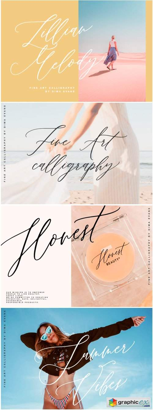 Download Lillian Melody Font » Free Download Vector Stock Image ...