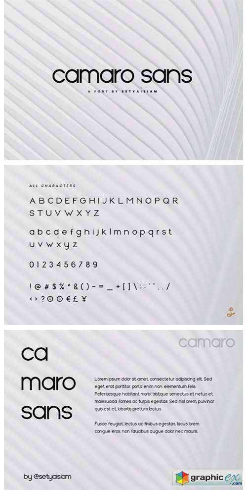 Camaro Font » Free Download Vector Stock Image Photoshop Icon