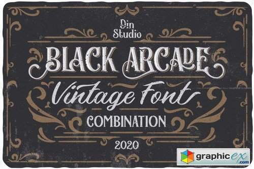 Download Black Arcade - Font Pack » Free Download Vector Stock ...