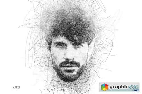 Da Vinci Sketch Action for Photoshop » Free Download