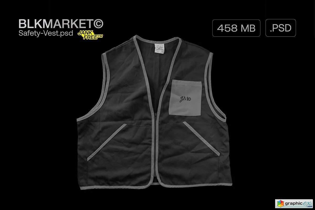 Beli mockup sweater online terdekat di jawa barat berkualitas dengan harga murah. Safety Vest Psd Streetwear Mockup Free Download Vector Stock Image Photoshop Icon