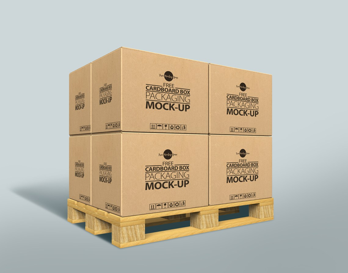 Download Free Cardboard Box Mock-up Psd For Packaging 2017Graphic ...