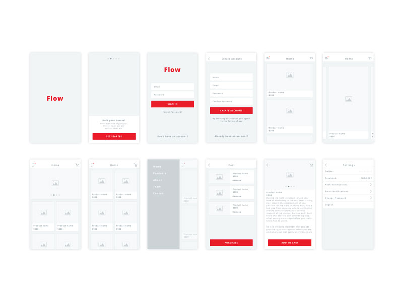 30 Free Mobile, UX & Web Wireframe TemplatesGraphic Google