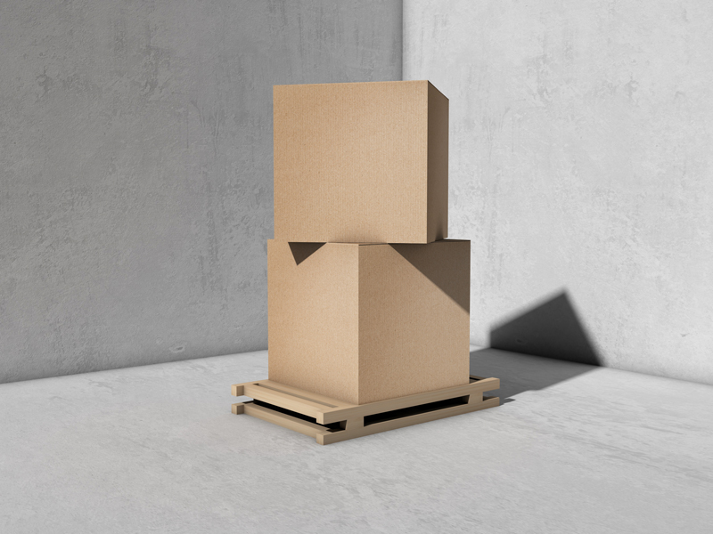 Download Free Packaging Cargo Delivery Box Mockup - Graphic Google ...