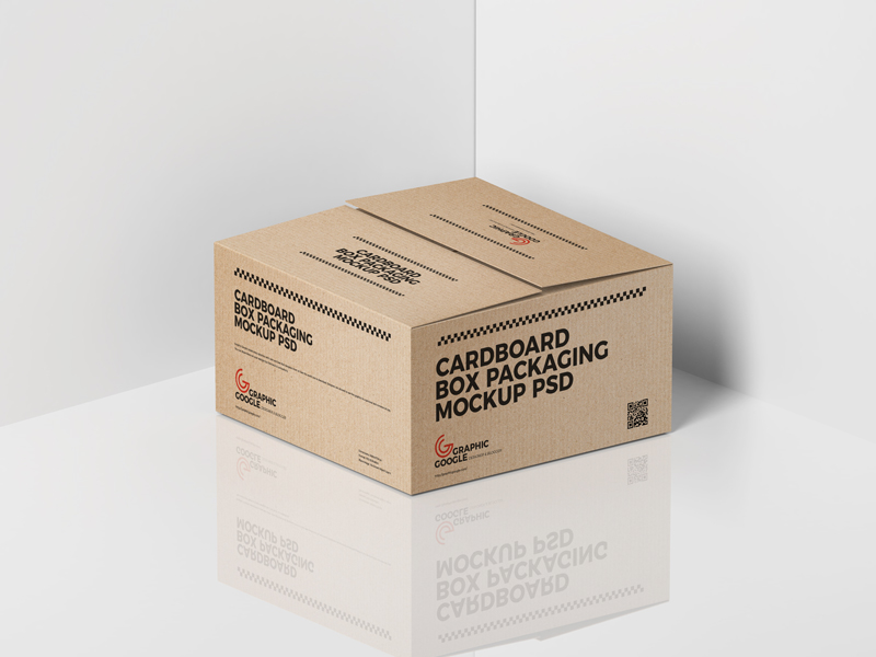 Download Free Cardboard Box Packaging Mockup PSD - Graphic Google ...