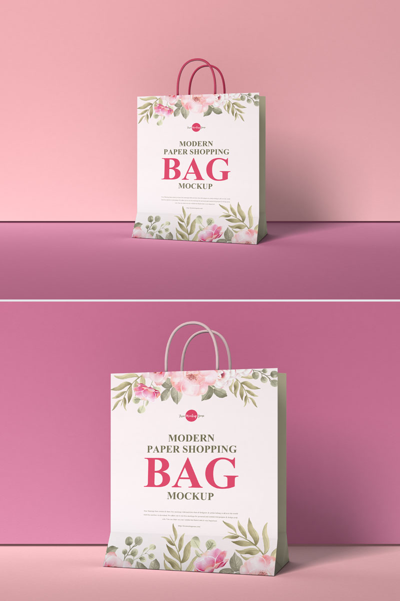 Using the smart object layers, you have the ability to easily edit the free mockup via adobe photoshop. Shopping Bag Mockup Graphicburger Iucn Water