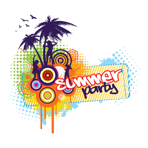 summer party vector graphic