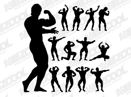 Fitness Person Action Silhouette Vector  Graphic Hive