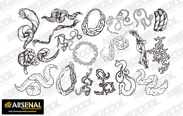 Go Media Production Trend Vector Graphic Set13-Rope Chain
