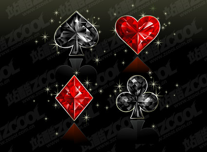 Diamond Texture Of Poker Vector Graphics Material Graphic