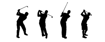 People Silhouette Vector Golf Material| Graphic Hive