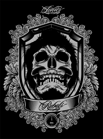 Cool And European Skull Vector Gorgeous Lace Material Graphic Hive