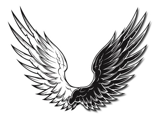 Silhouette Eagle Tattoo